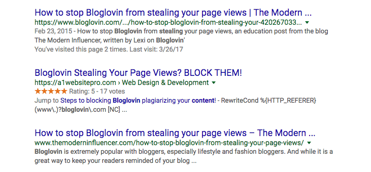Bloglovin' Search Results