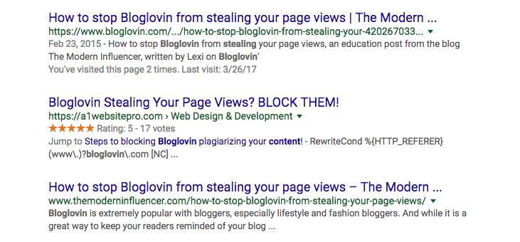 Bloglovin' Search Results