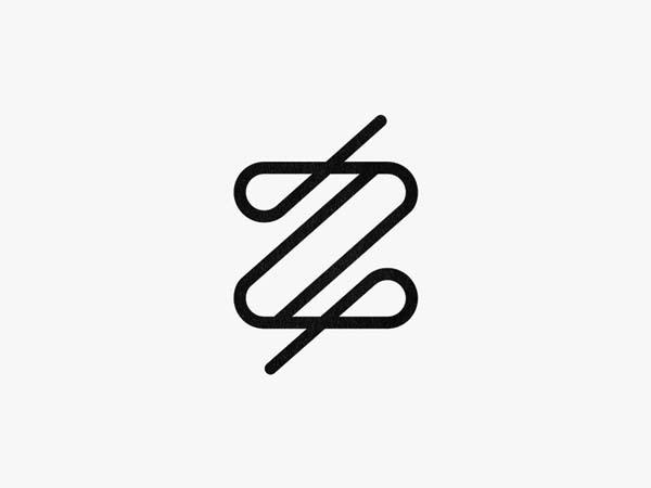 Inspirasi Desain Logo Monoline 2017 - Z2 Monoline logo