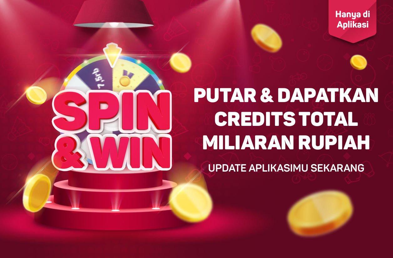 Bukalapak - Game Spin & Win Menangkan Credit Total Miliaran Rupiah
