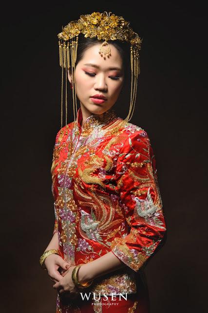 龍鳳褂造型中國風大鳳冠原住民服飾