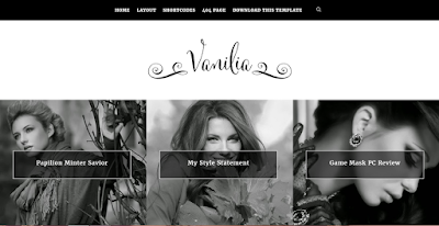 Vanilia clean template for fashion bloggers