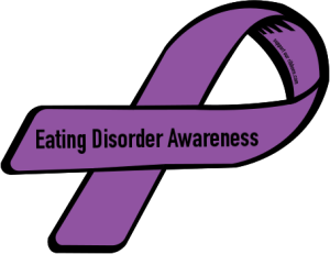 Image result for eating disorder ribbon 2017