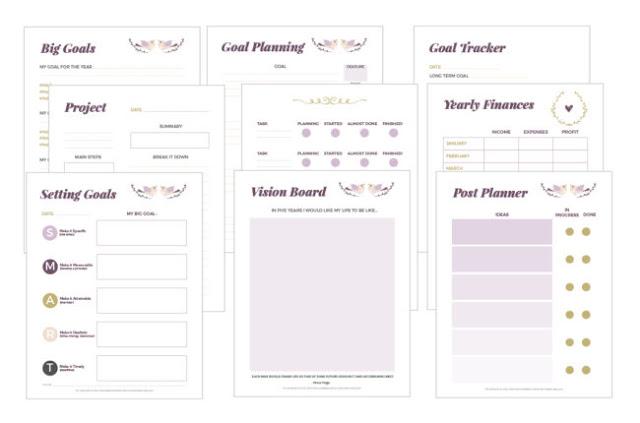 20 Plus Blog Planner Page Printable Free