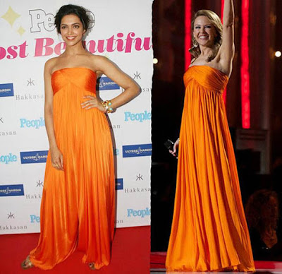Deepika wears exact copy of the dress once worn by Australian singer Kylie Minogue