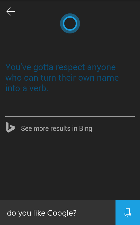 Make Cortana Use Google