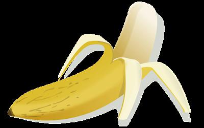 gambar clipart pisang kupas