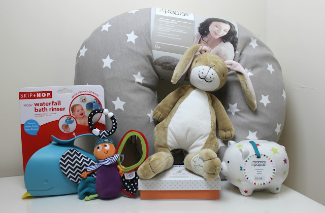 A Mamas & Papas baby haul including products for nursing, nursery, bath time and gifts