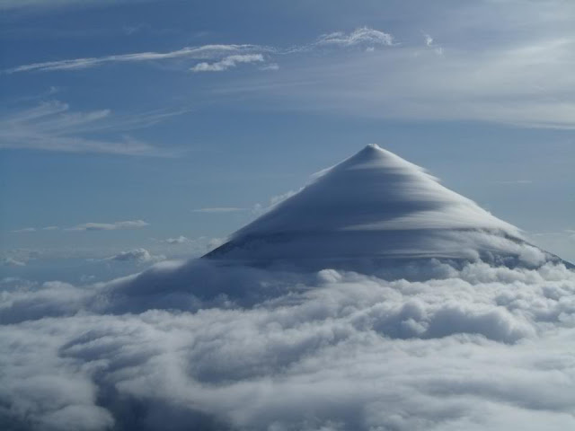 Mayon Volcano Hiding Behind Veil of Clouds