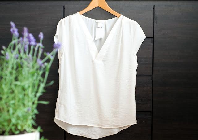koszula w serek h&m biały kolor