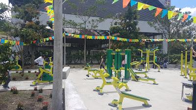 Gimnasio al aire libre generador de energía eléctrica