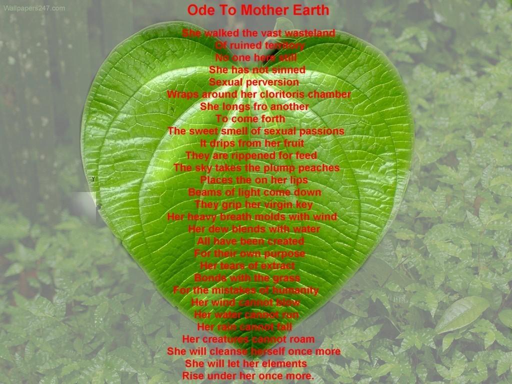 """Yoko Ono says """"Mother Earth"""""""