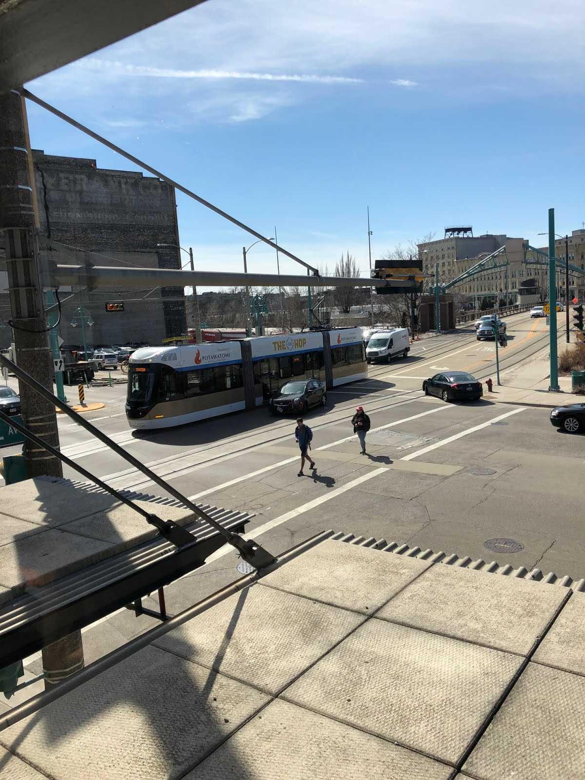 "Milwaukee's streetcar, ""The Hop,"" is running."