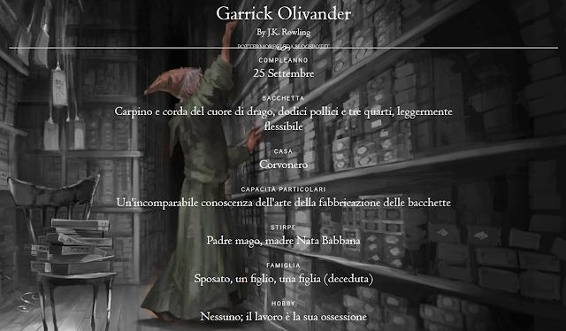 Scheda di Garrick Olivander