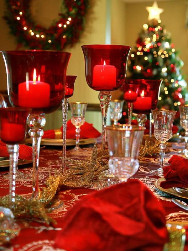 Christmas candle decoration ideas world of makeup and fashion for 7 candle christmas decoration