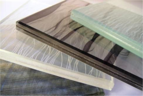 Fabric Laminated Glass by Giovani Glass