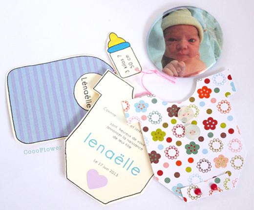 """Le faire part de naissance DIY """"Petit body"""" par CocoFlower"""