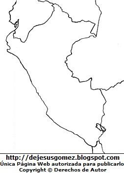 Dibujo del Mapa del Perú sin color hecho por Jesus Gómez