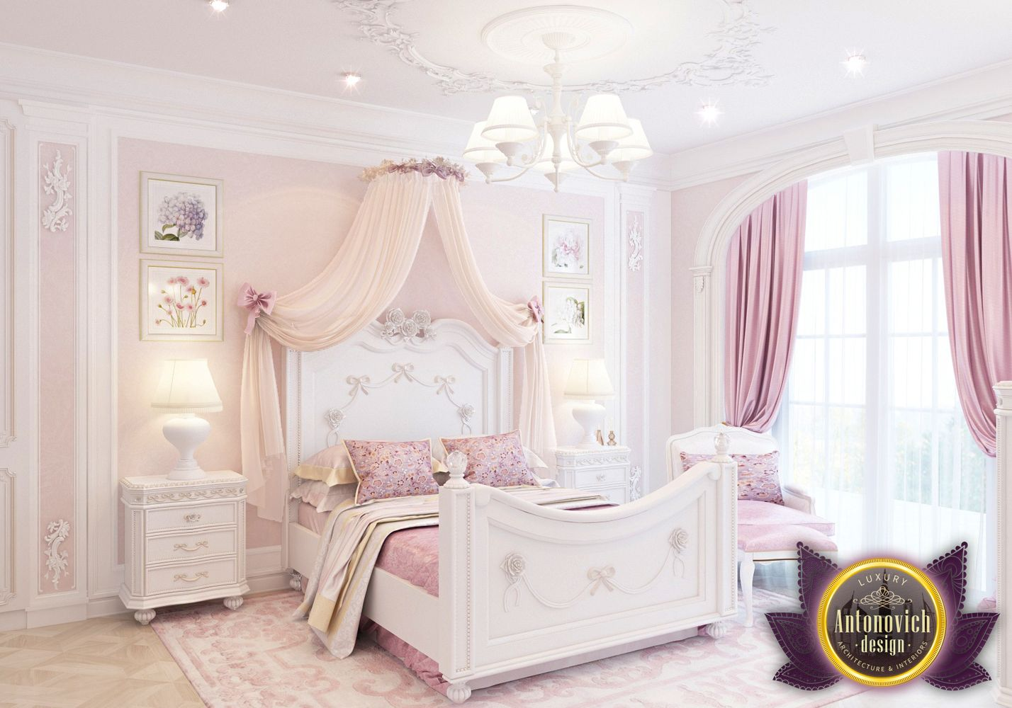 A wonderful classic style in the interior all perfectly and harmoniously this interior is the perfect place for the child and will bring perfect taste