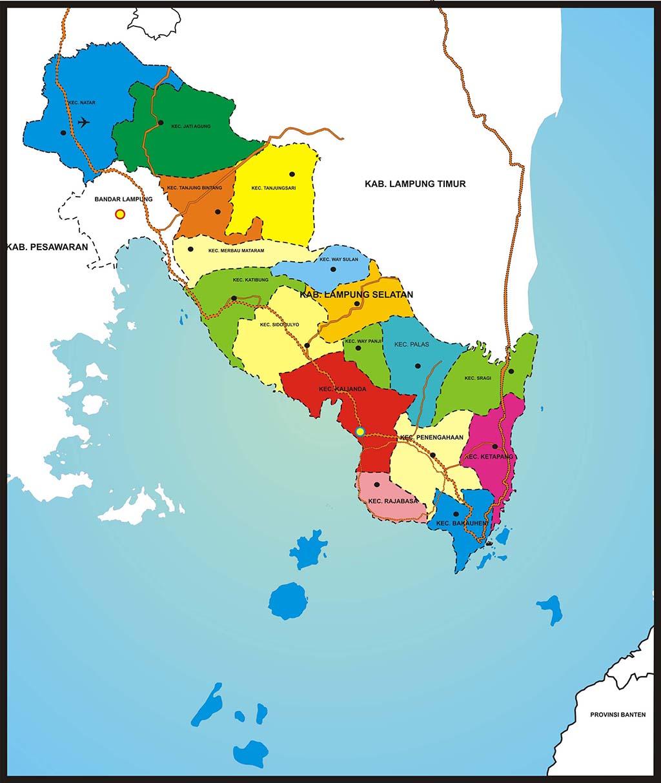 Peta Wilayah Kabupaten Lampung Selatan | Blogger Indonesia