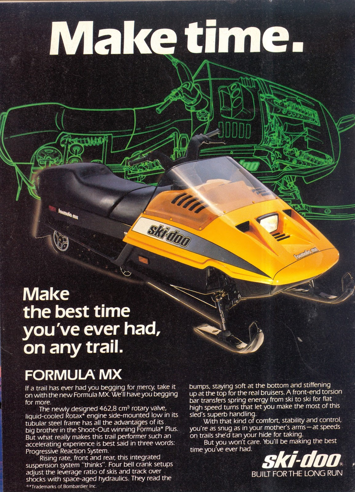 CLASSIC SNOWMOBILES OF THE PAST: 1985 SKI-DOO FORMULA MX