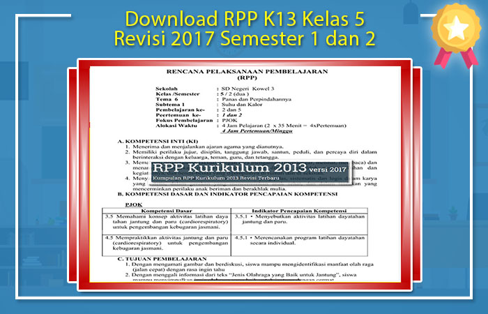 RPP K13 Revisi 2017 PJOK SD