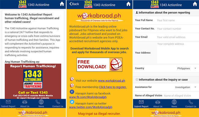 Preview of 1343 Actionline a Useful Mobile App Against Human Trafficking