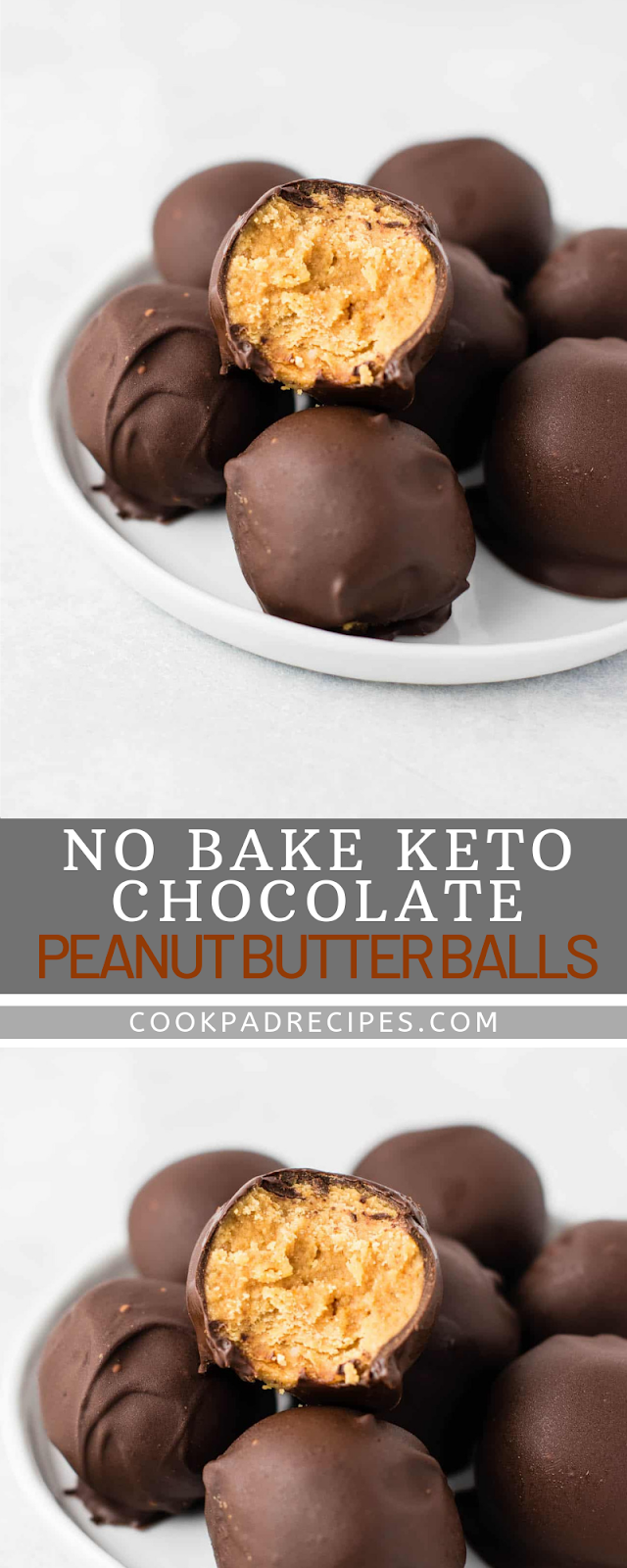 NO BAKE KETO CHOCOLATE PEANUT BUTTER BALLS (PALEO, VEGAN, LOW CARB)