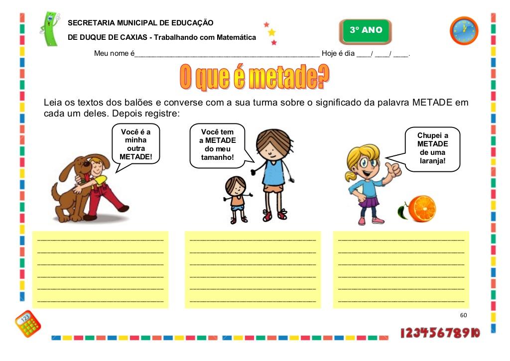 Caderno De Atividades Pedagógicas 3º Ano Parte Ii Atividades