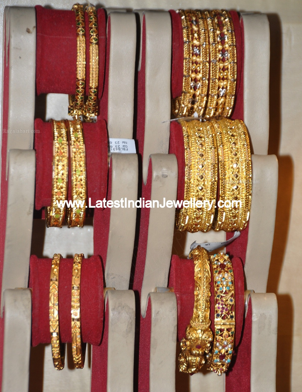 Designer Gold Kadas And Bangles Gallery From Mohammed Khan