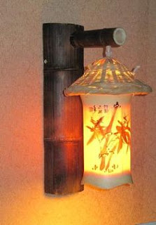 lampu hias cantik dari bambu