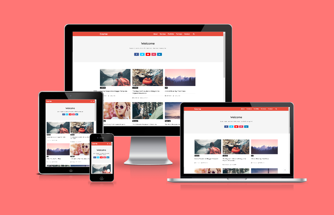 Course Responsive Blogger Template