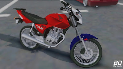 CG Titan 150 Montadinha para GTA San Andreas - Frente