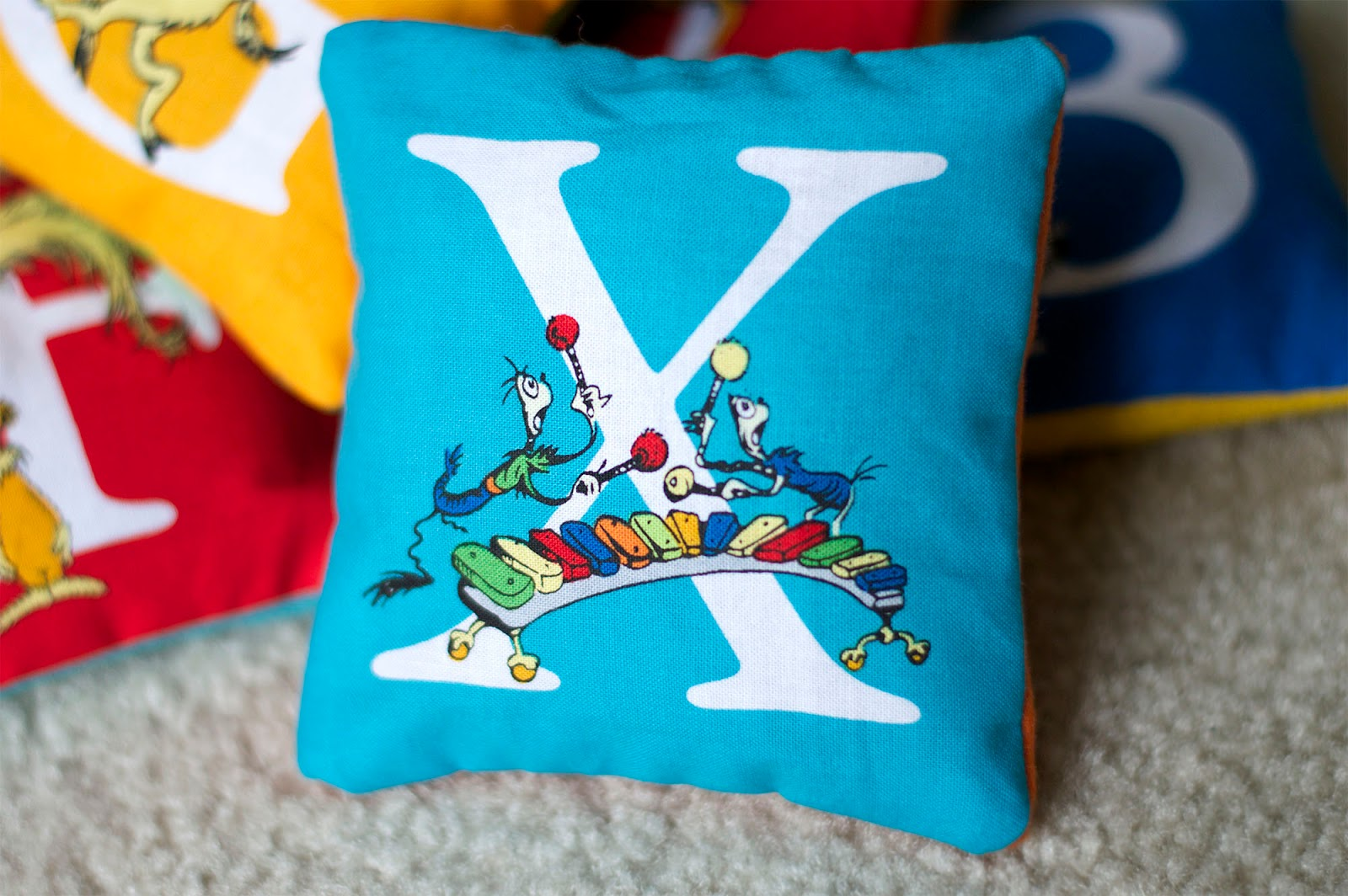 Dr Seuss Pillow Letters