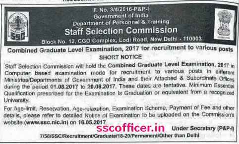 SSC CGL 2017 Study Material PDF - SSC Officer