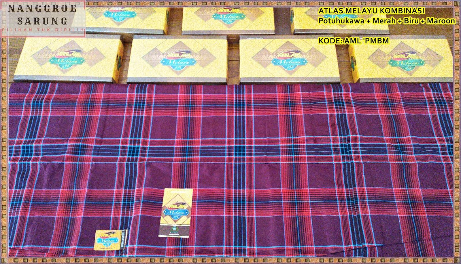 Sarung Atlas Kombinasi Kotak Merah Maroon Best Buy Indonesia Favorit Bata Blanjacom Source 475 Melayu Potuhukawa Biru