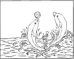 Cute Baby Dolphin And Balls Coloring Pages For Print