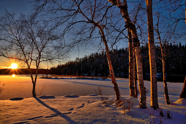 Image: Winter Sunset, by Alain Audet Pixabay