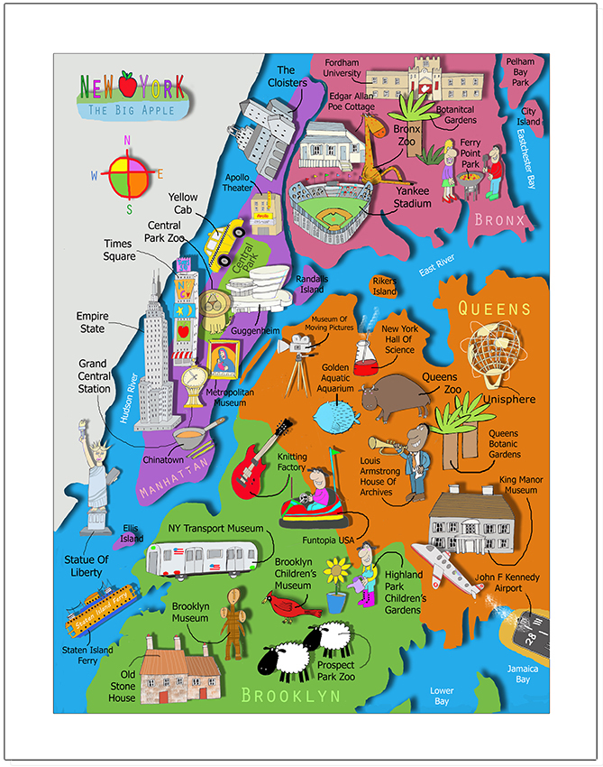 its's a jungle in here kids map of new york