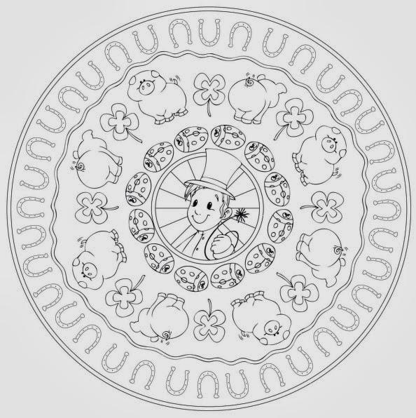 Ideenreise Mandala zum Jahreswechsel