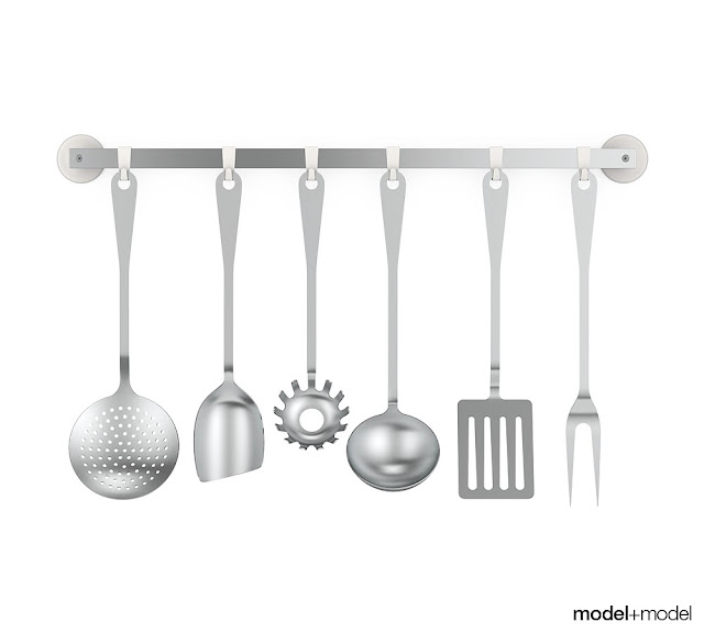 [3D Model Free]  Decorative kitchen models set 3