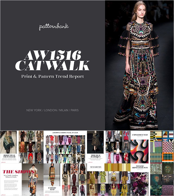 TRENDS // PATTERNBANK - Catwalk/Runway Print & Pattern Trend Report Autumn/Winter 2015/16