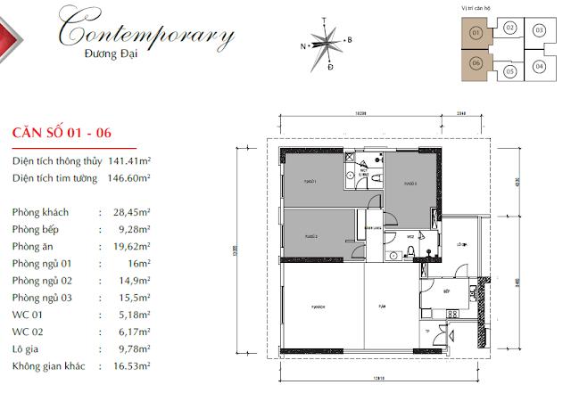 Thiết kế căn 01 06 Paragon Tower