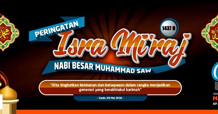 Desain Undangan Isra' Mi'raj - Quotes Diary f