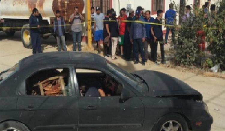 Fotografías despedazados por ejecución mueren dos jóvenes en Baja California