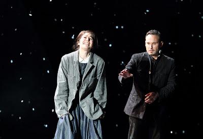 La bohème, The Royal Opera - Nicole Car, Mariusz Kwiecien - © ROH 2017. Photograph by Catherine Ashmore.