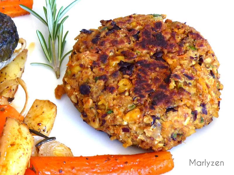 Steaks végétariens (légumes et flocons d'avoine)
