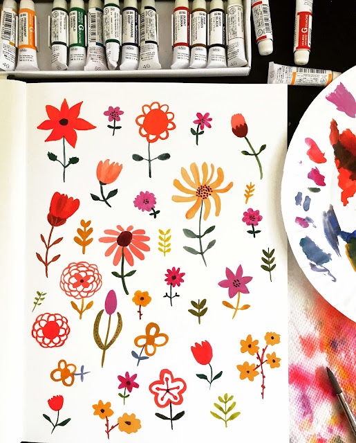 sketchbooks, Jaqui Falkenheim, Sketchbook Conversations, painting, gouache