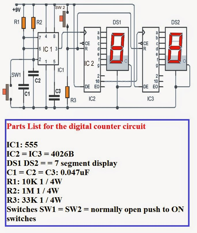0 12v power supply circuit diagram 0 99 counter circuit diagram electrical engineering world: how to make homemade 0 to 99 digital pulse counter circuit