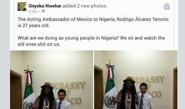 Check out how Onyeka Onwenu's son mocked President Buhari